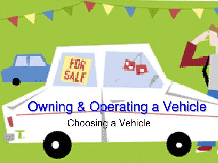 owning operating a vehicle n.