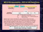 mpls encapsulation ppp lan data links