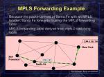 mpls forwarding example2