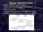 recall signaling ideas