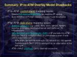 summary ip to atm overlay model drawbacks