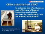 cfia established 1997