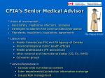 cfia s senior medical advisor