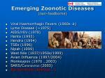 emerging zoonotic diseases non foodborne