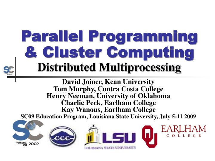 parallel programming cluster computing distributed multiprocessing n.