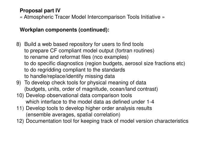 Proposal part IV