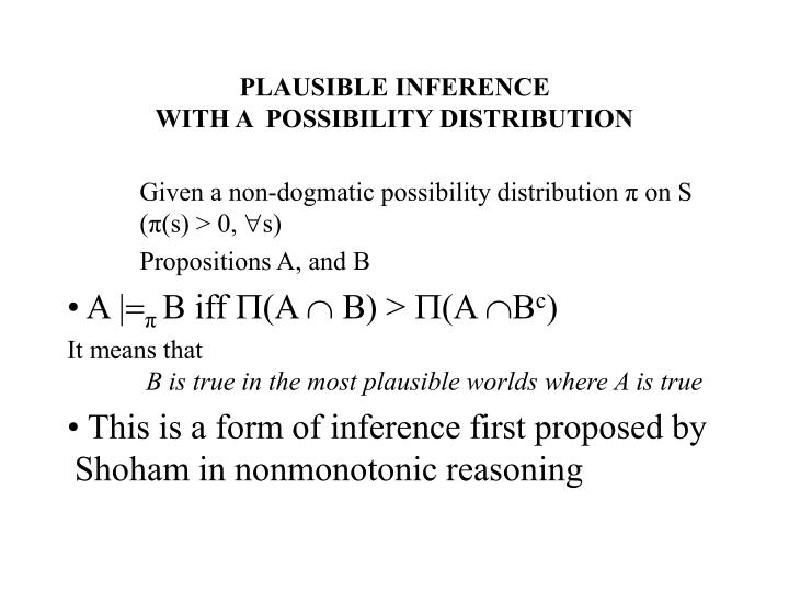 PLAUSIBLE INFERENCE