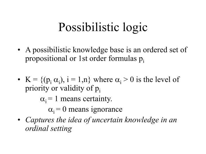 Possibilistic logic