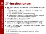 it institutionen