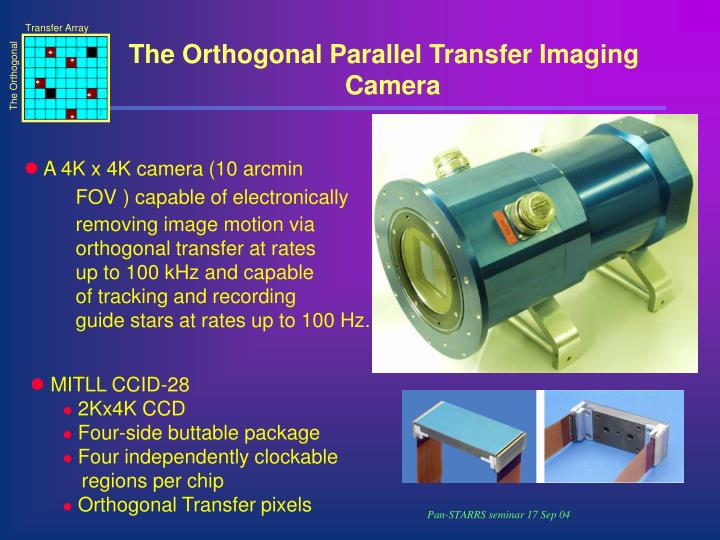 The Orthogonal Parallel Transfer Imaging Camera