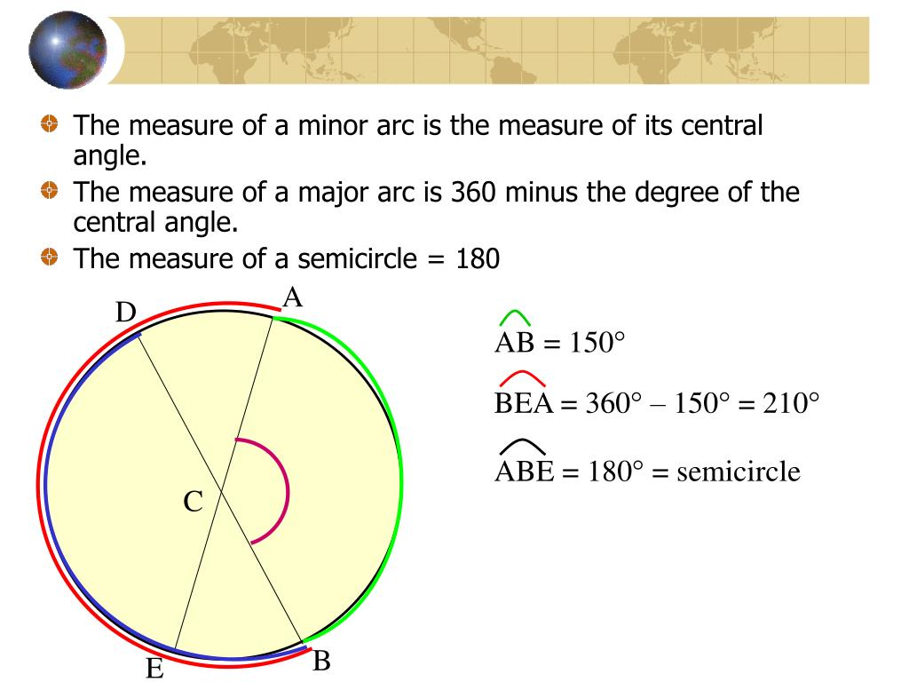 PPT - 10.2 Measuring Angles and Arcs PowerPoint ...