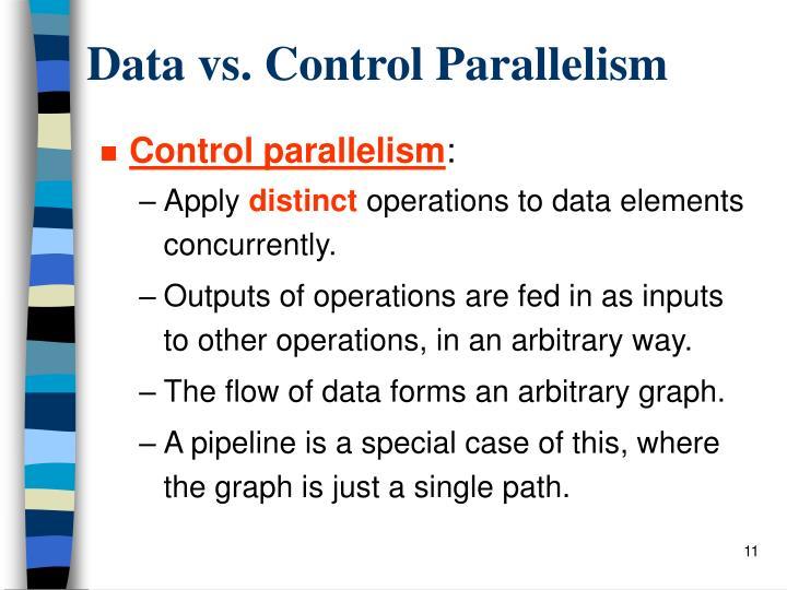 Data vs. Control Parallelism