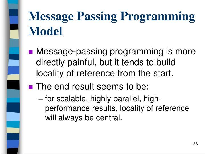 Message Passing Programming Model