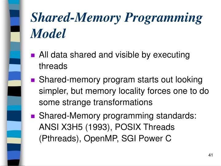 Shared-Memory Programming Model