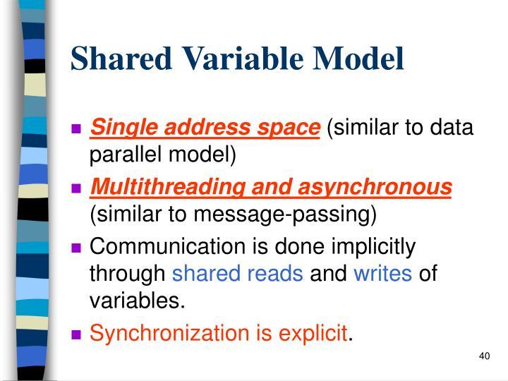 Shared Variable Model