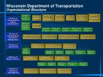 wisconsin department of transportation organizational structure