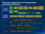 wisconsin department of transportation organizational structure1