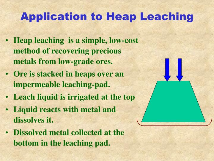 Application to Heap Leaching