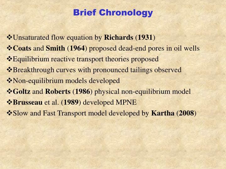 Brief Chronology