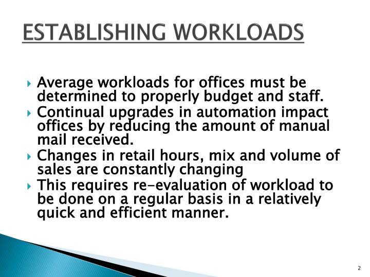 Establishing workloads