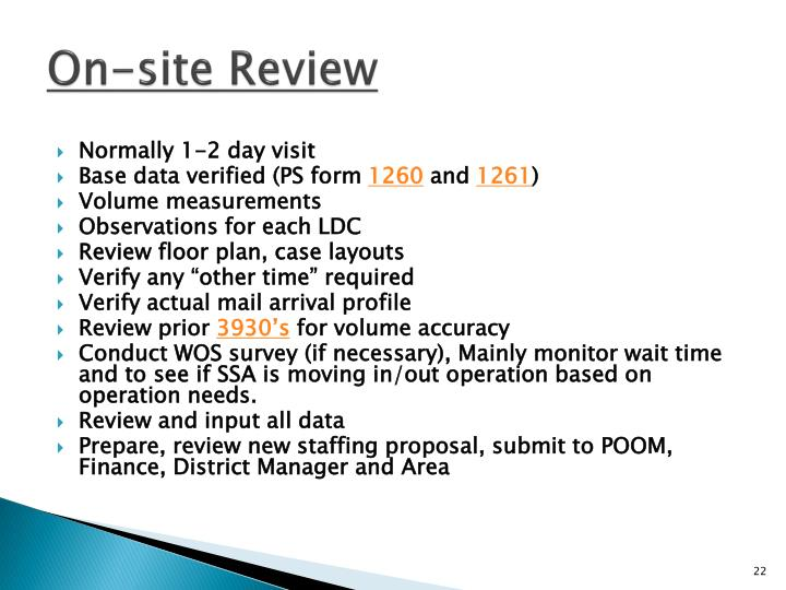On-site Review