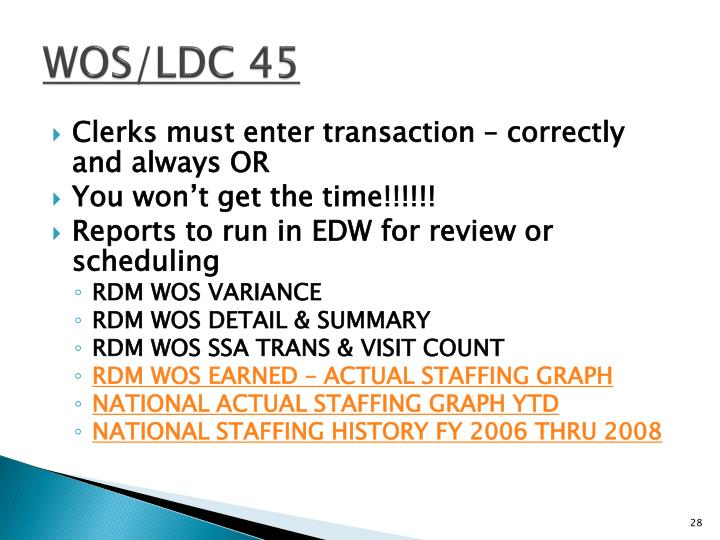 WOS/LDC 45