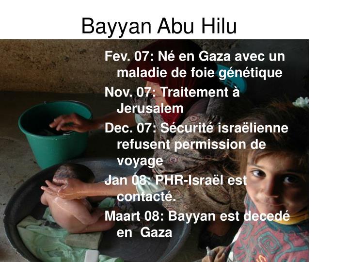 Bayyan Abu Hilu