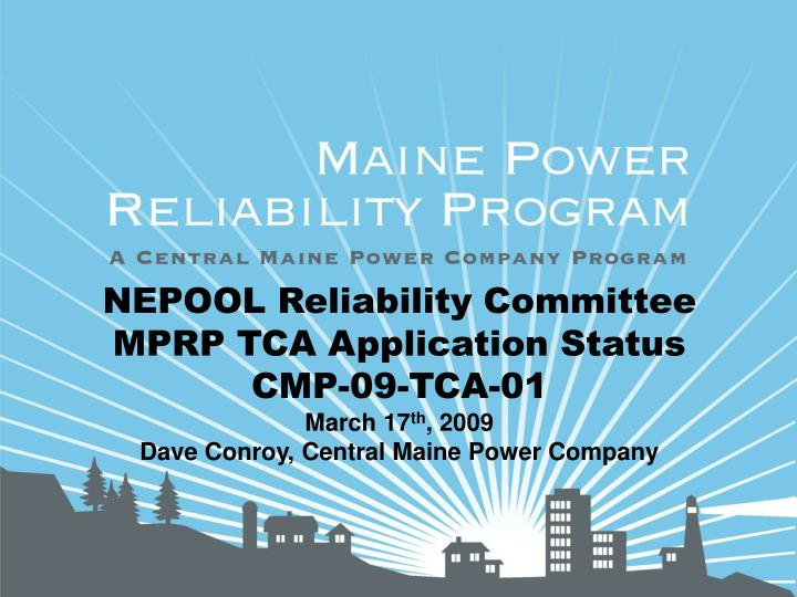 NEPOOL Reliability Committee