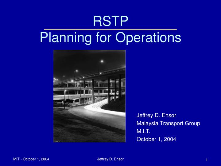 rstp planning for operations n.