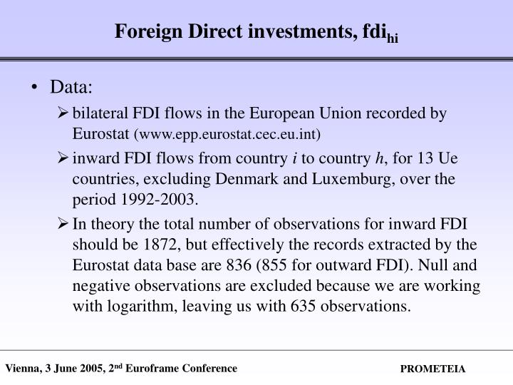 Foreign Direct investments, fdi