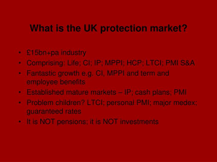 What is the uk protection market