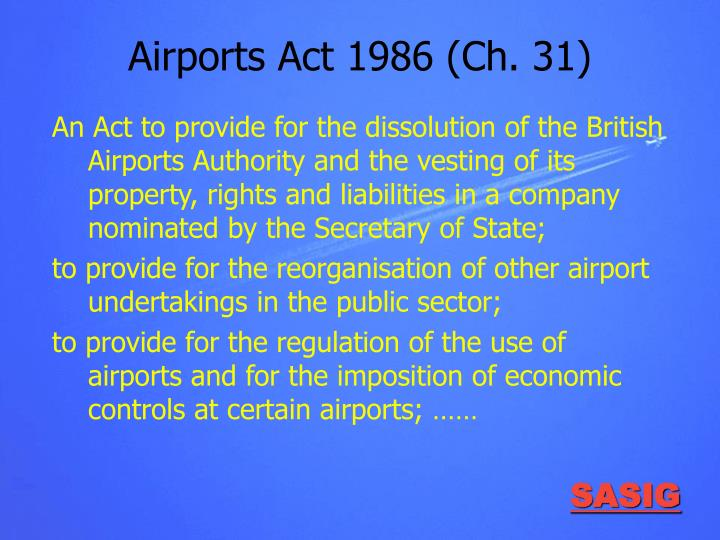 Airports Act 1986 (Ch. 31)