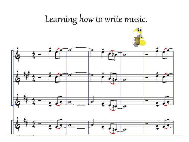 how to write music notes Create, play back and print beautiful sheet music with free and easy to use music notation software musescore for windows, mac and linux  write music for.