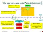 the way out use data push architecture2