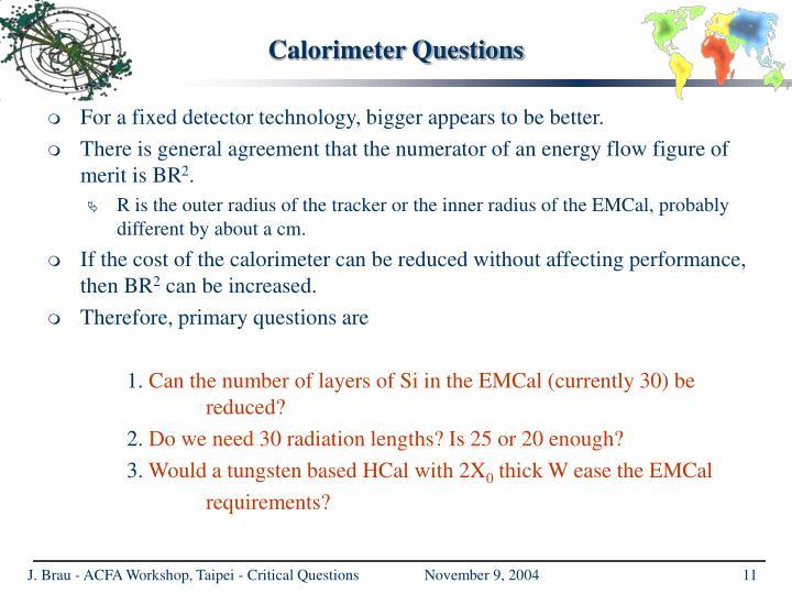 Calorimeter Questions
