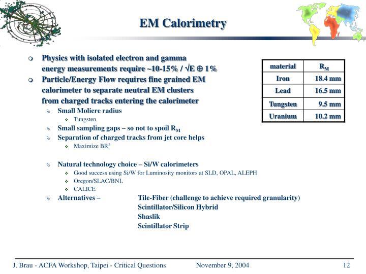 EM Calorimetry
