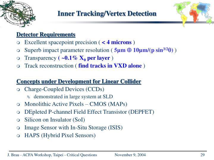 Inner Tracking/Vertex Detection