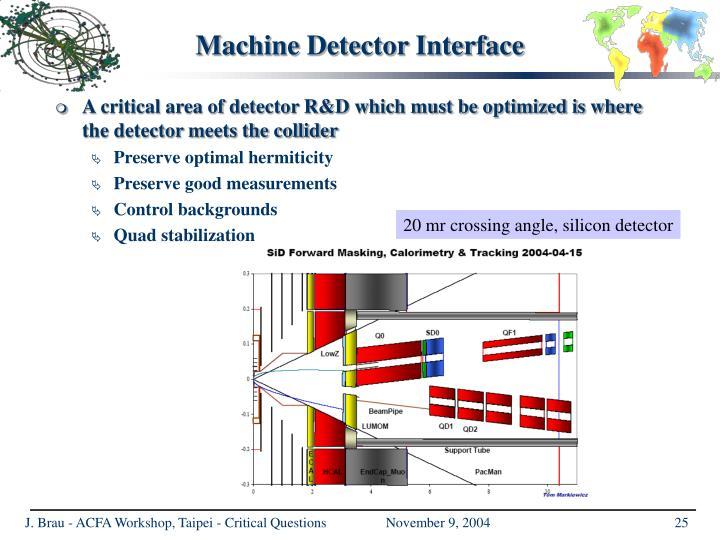 Machine Detector Interface