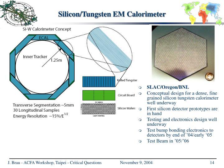 Silicon/Tungsten EM Calorimeter