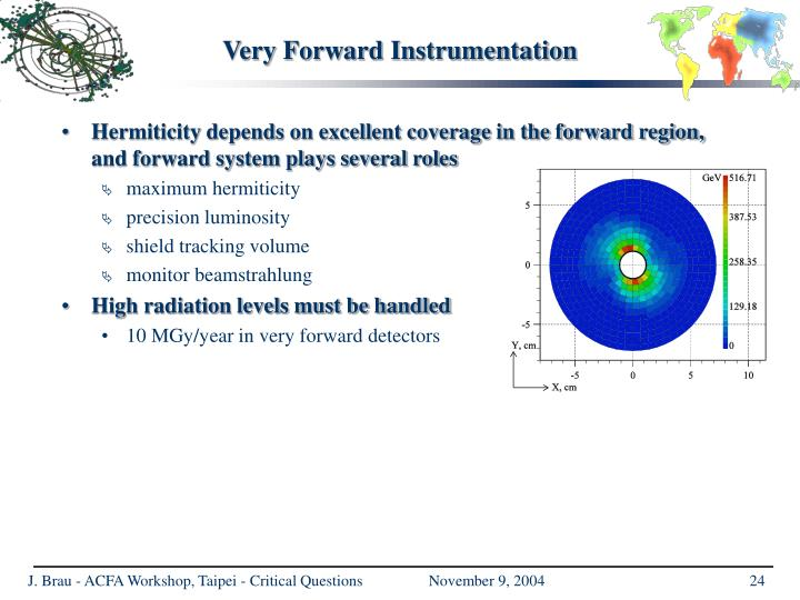 Very Forward Instrumentation