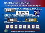navmed mpt e kmp enterprise wide portal technologies
