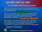 navmed mpt e kmp knowledge base requirements