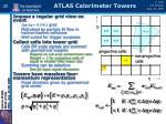 atlas calorimeter towers