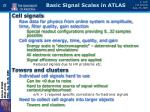 basic signal scales in atlas