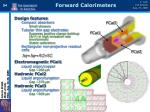 forward calorimeters