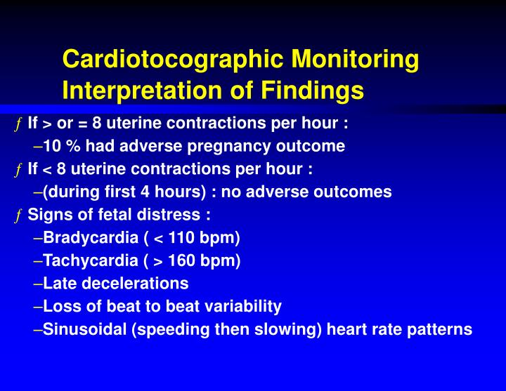 Cardiotocographic Monitoring