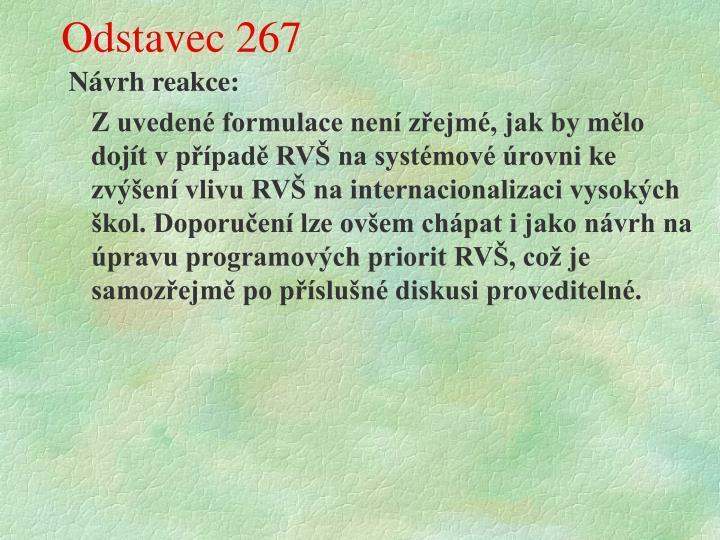 Odstavec 267