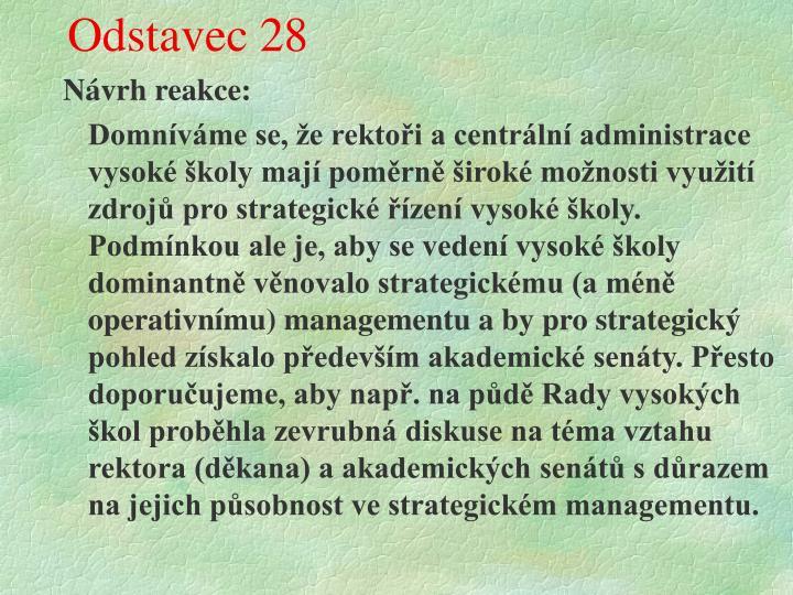 Odstavec 28