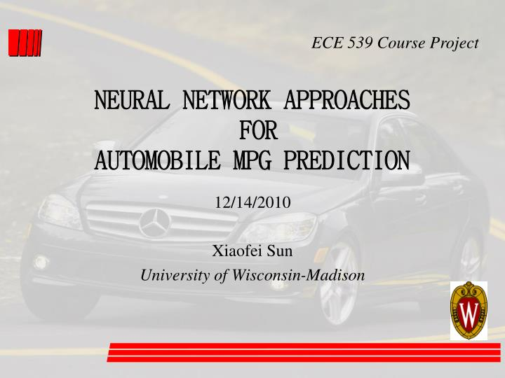 neural network approaches for automobile mpg prediction n.