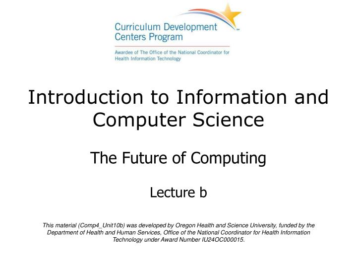 introduction to information and computer science n.